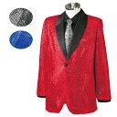 【ネット限定セール】【ステージ衣装】衿配色スパンコールジャケット 紳士用 GMEJ002-MEJ246-1-2875-91132▼メンズ ジ…