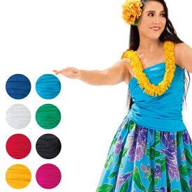 【フラダンス衣装】シャーリングチューブトップ TSS1802-3128 ▼トップス フラ ハワイアン ハワイアンダンス レディース