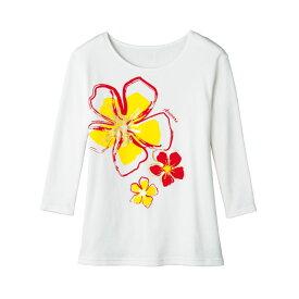 【在庫限りセール】【フラダンス衣装】手描き風フラワーTシャツ TK2838-91140 ▼ハワイアン 発表会