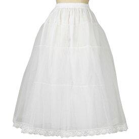 【フラダンス衣装】ロングパニエ 白 SK460-2843 ▼フラドレス 発表会 ステージ衣装 レディース