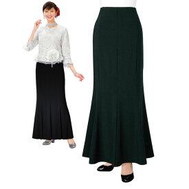 【フォーマルスカート】ストレッチマーメイドスカート KN-112-3383▼ブラックフォーマル 黒ロングスカート
