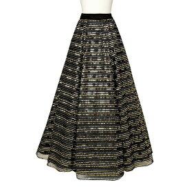 【在庫限りセール】【ロングスカート】スパンコール刺繍スカート SK562-90862▼コーラス 演奏会 スカート