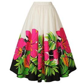 【フラダンス衣装】フラダンススカート ピンク系 SK508-3417 ▼フラ衣装 フラスカート ロングスカート
