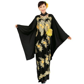【ロングドレス】立体花モチーフ刺繍ドレス OP427-3550▼和柄ドレス カラオケ ステージ衣装