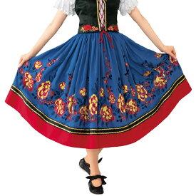 【フォークダンス衣装】花刺繍スカート SK588-3589▼フォークロア レクダンス