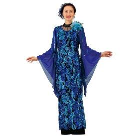 【ロングドレス】カフスネックスパンコールドレス OP449-1-3613▼カラオケ ステージ衣装