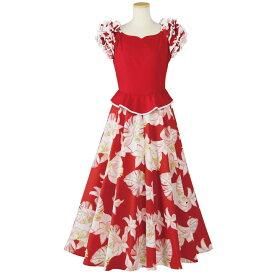 【在庫限りセール】【フラダンス】ペプラムドレス OP418-1-90930▼フラダンス衣装 フェスティバル ハワイアンドレス