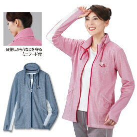 【レディースファッション】袖下メッシュフルジップパーカー TK3030-8895▼ミセストップス 春夏 アウター UV