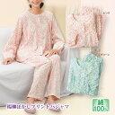 【ナイトウェア】楊柳ぼかしプリントパジャマ 2色組 ST2060-80022▼ルームウェア 部屋着 レディース