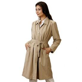 【レディースコート】ポケットいっぱいステンカラーコート CT223-1(15)-8478▼トレンチコート アウター