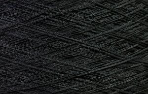 【アヴリル】毛糸 コットンギマ30g 綿100%, 合細 テープ(色名:48.ブラック) / 手芸用 手編み 編み物 棒針 かぎ針 ハンドメイド 手づくり 擬麻 ギマ加工