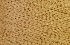 【アヴリル】毛糸 コットンギマ30g 綿100%, 合細 テープ(色名:52.オーレ) / 手芸用 手編み 編み物 棒針 かぎ針 ハンドメイド 手づくり 擬麻 ギマ加工
