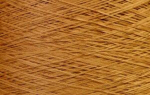 【アヴリル】毛糸 コットンギマ30g 綿100%, 合細 テープ(色名:53.オーク) / 手芸用 手編み 編み物 棒針 かぎ針 ハンドメイド 手づくり 擬麻 ギマ加工