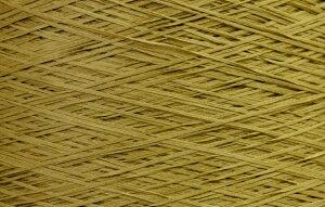 【アヴリル】毛糸 コットンギマ30g 綿100%, 合細 テープ(色名:7.カラシ) / 手芸用 手編み 編み物 棒針 かぎ針 ハンドメイド 手づくり 擬麻 ギマ加工