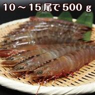 淡路島産天然足赤えび【氷〆10〜15尾合計約500g】ボイル・塩焼・天ぷら・フライなどに
