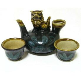 一合カラカラ(お猪口セット)黒 「酒器・陶器」