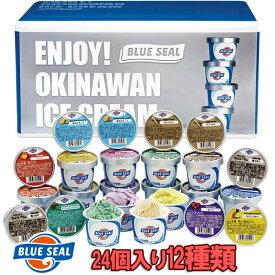 ブルーシールギフトセット24(110ml 12品×2個) 送料無料母の日・お中元・ギフトにどうぞ沖縄のアイスクリーム アイスケーキ ギフト %OFF お試し 期間限定 早割り プレゼント 業務用