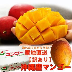訳あり沖縄産マンゴー2kg箱(マンゴー内容量1800g以上)(4-7玉)白箱入り 送料無料