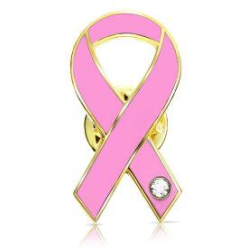 ピンクリボン ピンバッジ 平 乳がん マンモグラフィ 検診 診察 診断 アウェアネス ピンバッチ ピンバッヂ