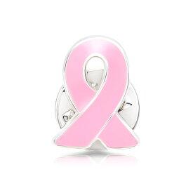 ピンクリボン ピンバッジ 小 乳がん マンモグラフィ 検診 診察 診断 アウェアネス ピンバッチ ピンバッヂ