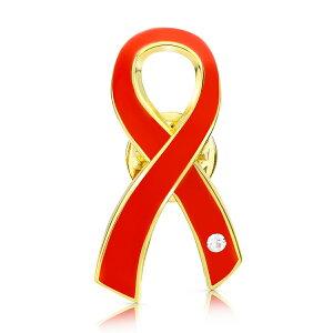 レッドリボン ピンバッジ 大 エイズ AIDS エイズデー アウェアネス ピンバッチ ピンバッヂ