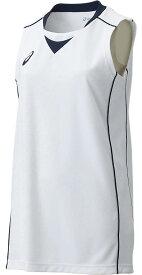 【メール便可200円】【アシックス asics】 XB2355 SAバスケット BASKETBALL / GAME WEAR ウェア レディース W'Sゲームシャツ ホワイト×ネイビー 0150