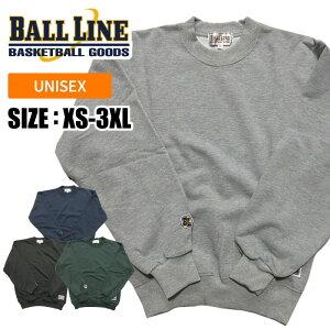 【ボールライン BALL LINE オンザコート】[個人名刺繍可 有料]【ウェア】スウェット トレーナー バスケット BLSS1000 BLSS-1000 [200101]
