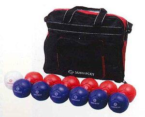 【送料無料】【サンラッキー SUNLUCKY】【ボッチャ】ニュースポーツ ボッチャゲーム用ボールセット  SRP-520 SRP520