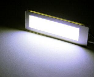 【ネコポス発送限定】面発光LEDルームランプ(汎用) 長方形 ホワイト 36LED/2.5W 3種類のアダプター付属10P05Nov16