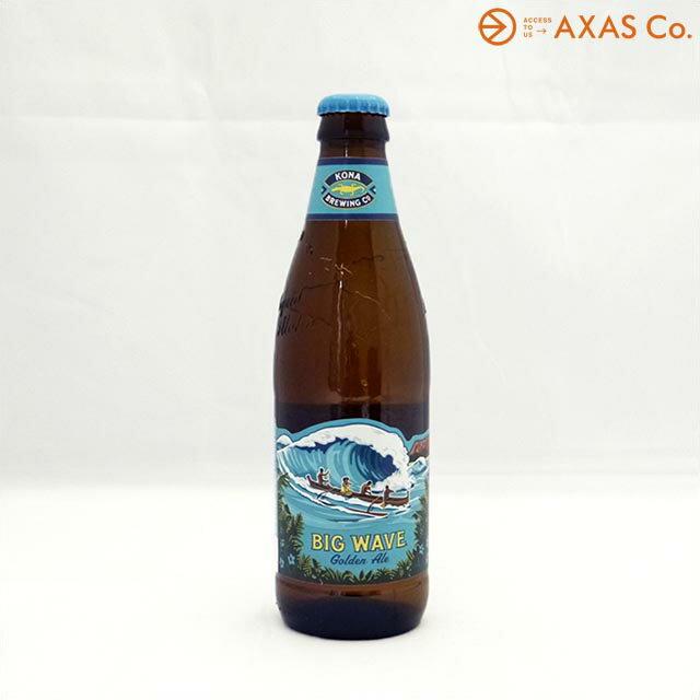 コナビールビッグウェーブ・ゴールデンエール 355ml 5.0% [輸入ビール ビン][行楽特集 お花見 ビール]