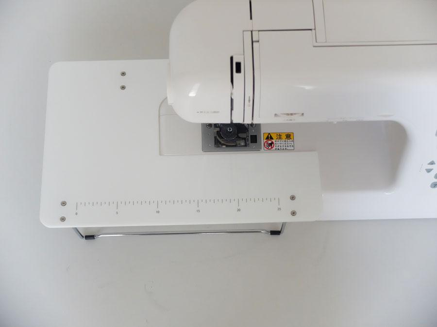 ワイドテーブル コンピュータミシン BB-600 白色 専用 延長 テーブル 台 ミシンテーブル カーテン 大物 アックスヤマザキ