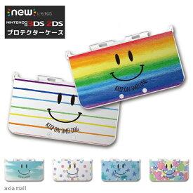 new3DS LL カバー ケース new 3DSLL new 2DS LL 3DS LL カバー Nintendo かわいい おしゃれ 大人 子供 キッズ おもちゃ ゲーム プレゼント SMILE スマイル カラフル デザイン ニコちゃん