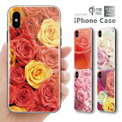 ガラスケースiPhoneiPhone8ケースiPhoneXSケースiPhoneXRケースTPUケーススマホケースガラス強化ガラス背面ガラス耐衝撃おしゃれ海外トレンドRoseローズデザイン花柄フラワー薔薇かわいい