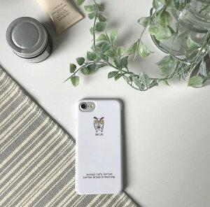 iPhoneXケースiPhone8ケースiPhone7ケースおしゃれアニマルカフェデザイン猫ネコパンダフクロウCatPandaOWLAnimalトレンドおしゃれコーヒーCoffeeCafeホワイトスマホケース全機種対応AQUOSarrowsDIGNOHUAWEIAndroidOne