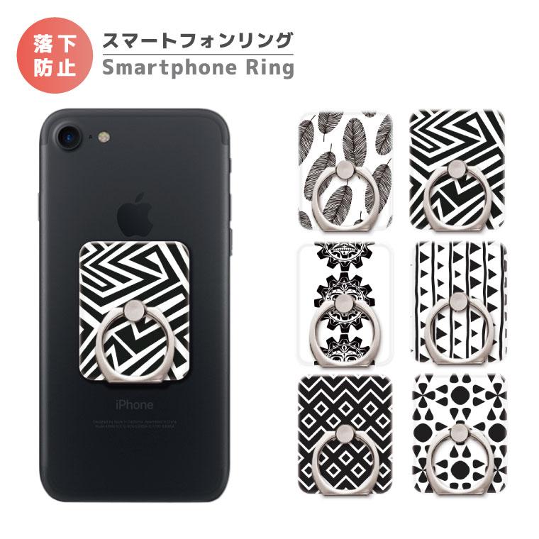 スマホリング ネイティブ デザイン クリアタイプ エスニック アメリカン ネイティブ ボヘミアン スマートフォンリング スマホ リング バンカーリング iPhone XS iPhone XR iPhone8 Xperia Galaxy AQUOS HUAWEI Android One