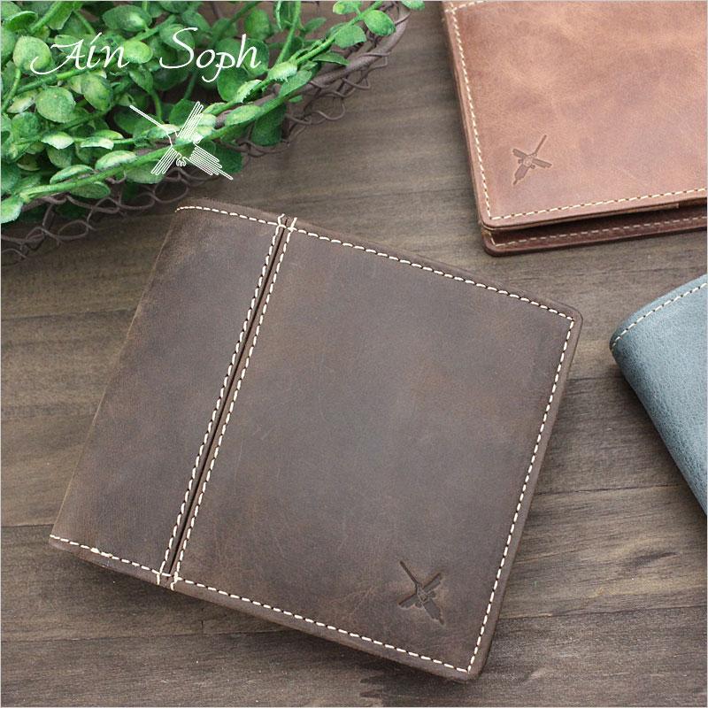 二つ折り財布 財布 DA654-HP アインソフ Ain Soph Hard Pull-up 318020