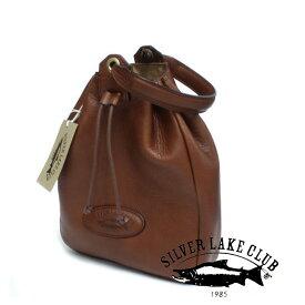 [メーカー在庫確認]巾着型ミニバッグ 130935 130932 シルバーレイククラブ SILVER LAKE CLUB 牛革 オイルレザー