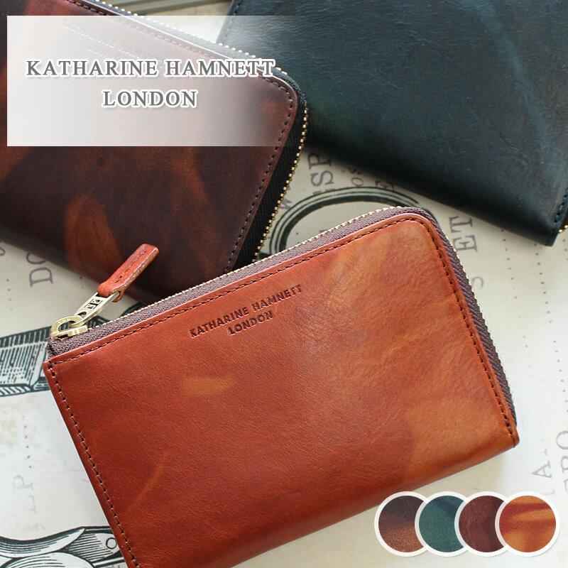 二つ折り財布 財布 490-59202 キャサリンハムネット KATHARINE HAMNETT LONDON L字ファスナー FLUID フルード