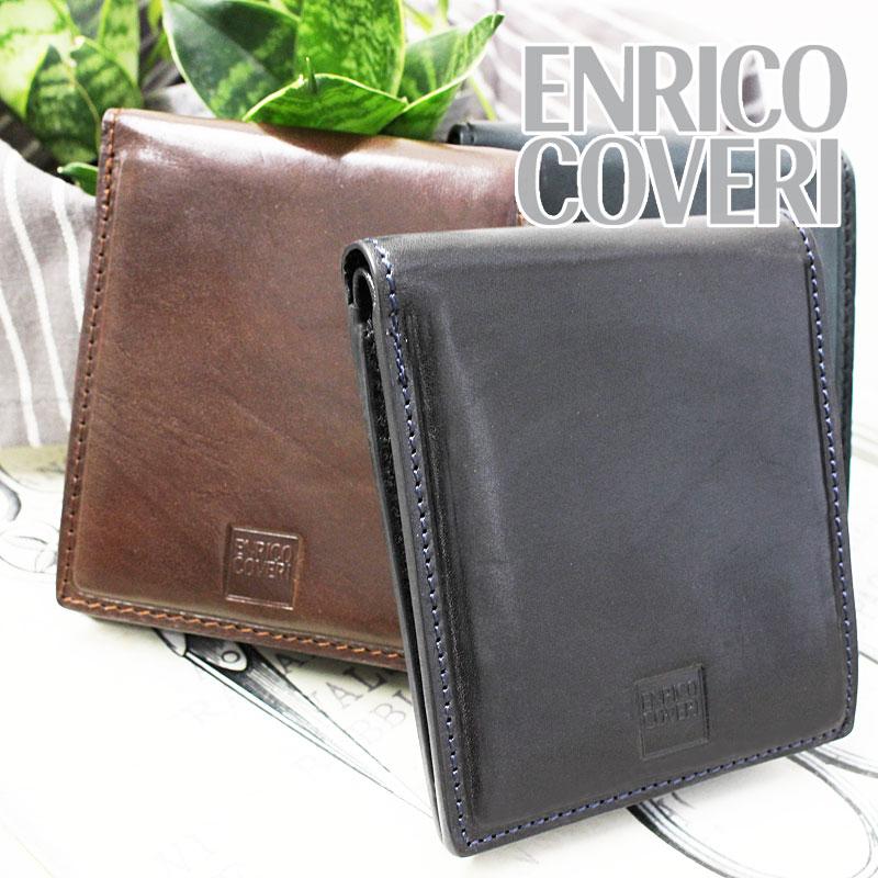 二つ折り財布 財布 ECM043 エンリココベリ ENRICO COVERI オブリガード