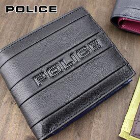 二つ折り財布 財布 PA-59901 ポリス POLICE BICOLORE ビコローレ