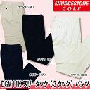 【16春夏】【65%OFF】ブリヂストン ゴルフ DGM11K スリータック(3タック)パンツ(メンズ)