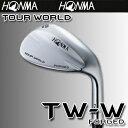 本間ゴルフ【日本仕様】 ツアーワールド TW-W FORGED 軟鉄鍛造ウェッジ スチール 【ハーフミラー】【2015-16年掲載】…