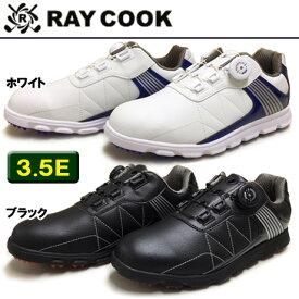 『☆先着20名様☆3足組靴下付』RAY COOK(レイクック) RCGS1800 スパイクレス 超軽量 ゴルフシューズ【着脱簡単「atop」搭載】【10559】