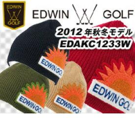 【89%OFF】【秋冬】EDWIN GOLFニットキャップ EDAKC1233W【ネコポス配送可】
