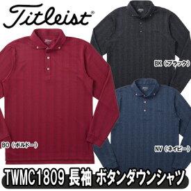 【18秋冬】【45%OFF】Titleist(タイトリスト)TWMC1809 長袖 ヘリンボーン 蓄熱ボタンダウンシャツ