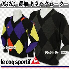 【16秋冬】【60%OFF】ルコック QG4201 長袖 Vネックセーター(メンズ)