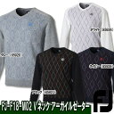 【●18秋冬】【50%OFF】FOOTJOY(フットジョイ)FJ-F18-M02 Vネック アーガイルセーター