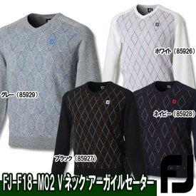 【●18秋冬】【55%OFF】FOOTJOY(フットジョイ)FJ-F18-M02 Vネック アーガイルセーター