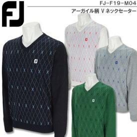 【SALE】【19秋冬】フットジョイ FJ-F19-M04 アーガイル柄 Vネックセーター【11262】
