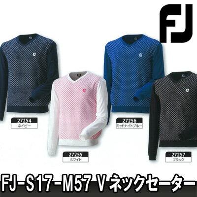 【17春夏】【50%OFF】FOOTJOY(フットジョイ)FJ-S17-M57 Vネックセーター